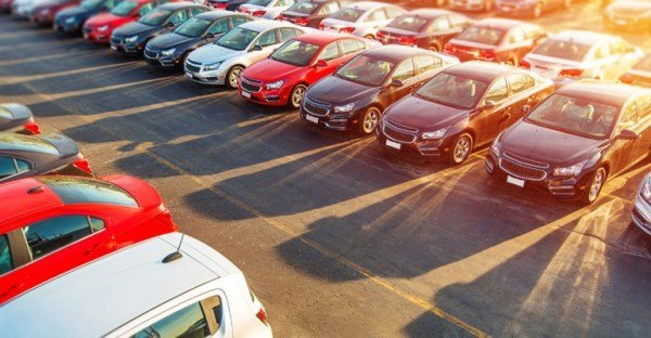 parking lot of a car - trade in or sell privately