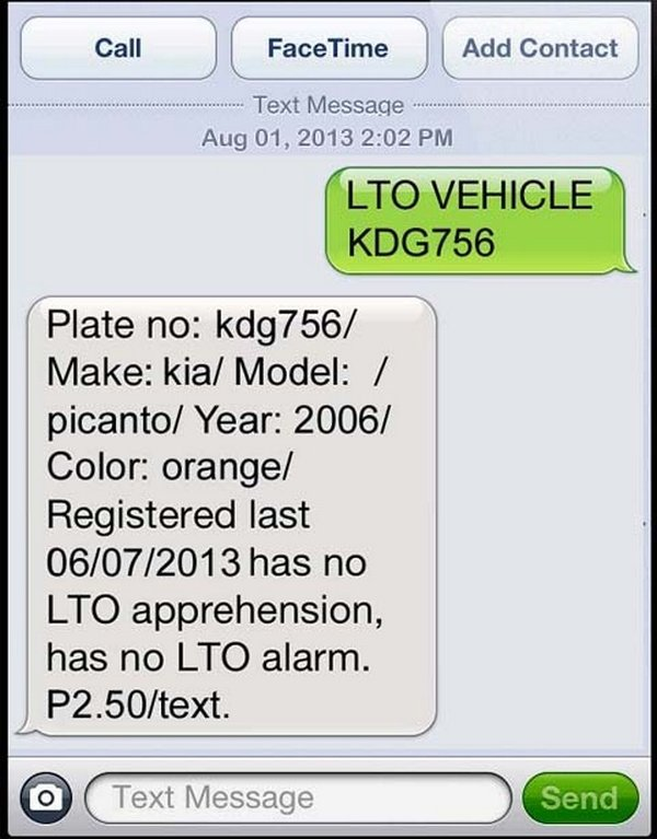How to verify plate number in LTO online in the Philippines?