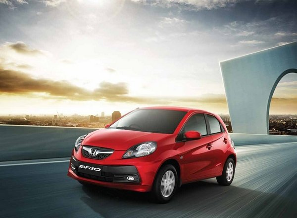 Honda Brio 2018 on the road