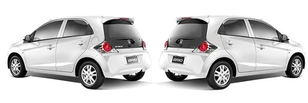Honda Brio 2018 angular rear