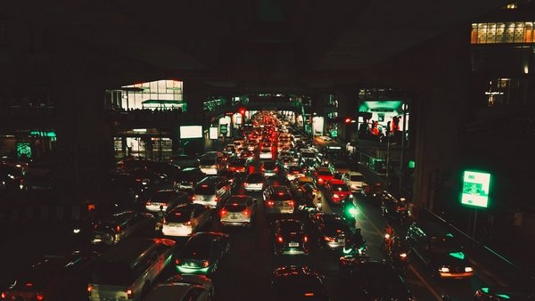 traffic jam at night in the philippines