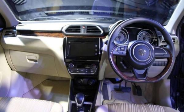 Suzuki Dzire 2018 interior