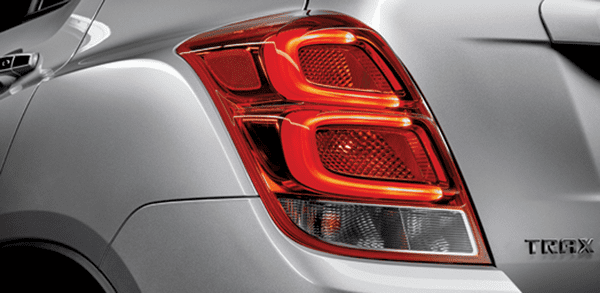The taillight of The Chevrolet Trax 2018