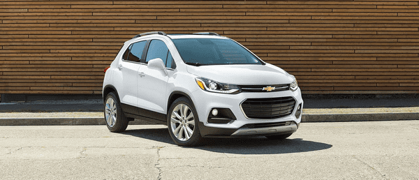 The angular front of The Chevrolet Trax 2018