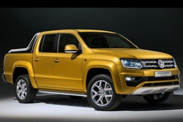 The angular fornt of the Volkswagen Amarok Aventura Exclusive