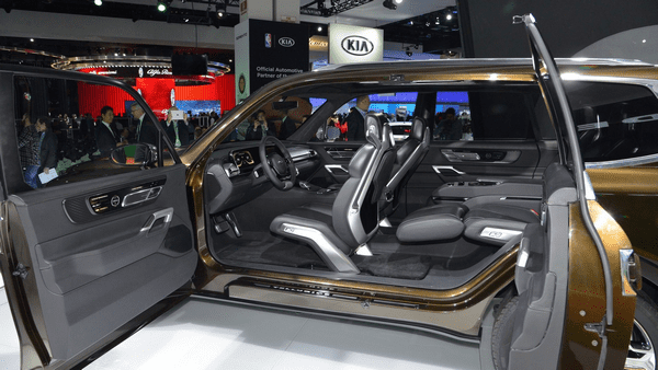 The view of the interior of the Kia Telluride concept