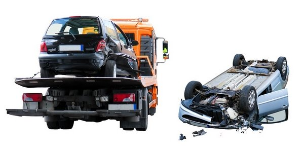 two cars after an accident