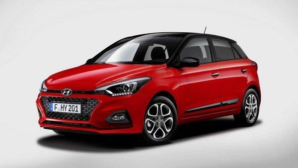 Hyundai i20 2018 facelift angular front