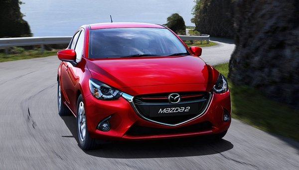 mazda 2 2018 on the road