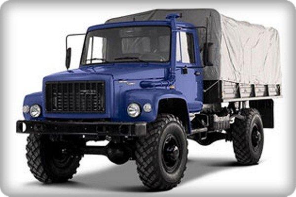 A GAZ truck angular front