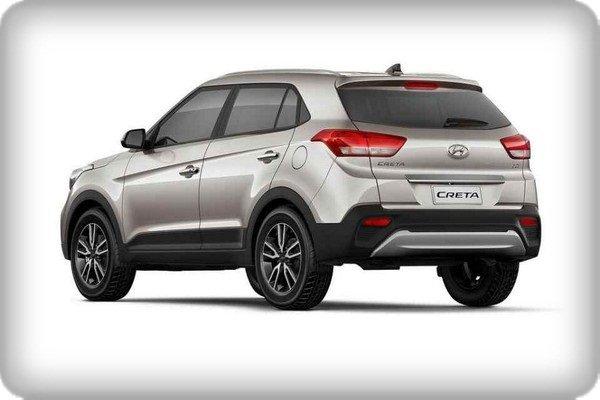 Hyundai Creta 2018 facelift angular rear