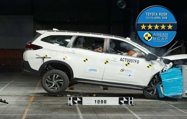 Toyota Rush frontal crash test