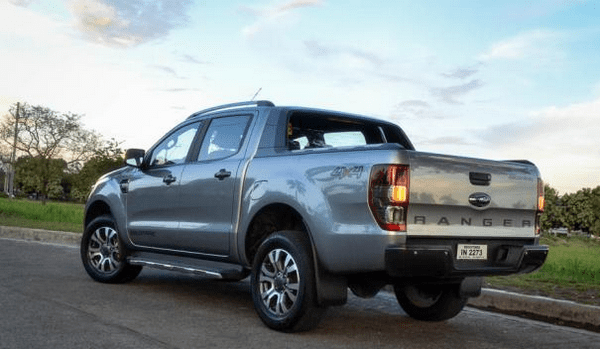 The angular rear of the Ford Ranger 2018