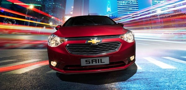 Chevrolet Sail 2018 on the road