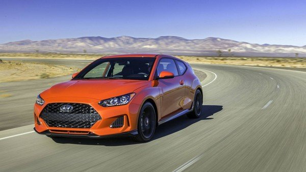 Hyundai Veloster 2019 on the road