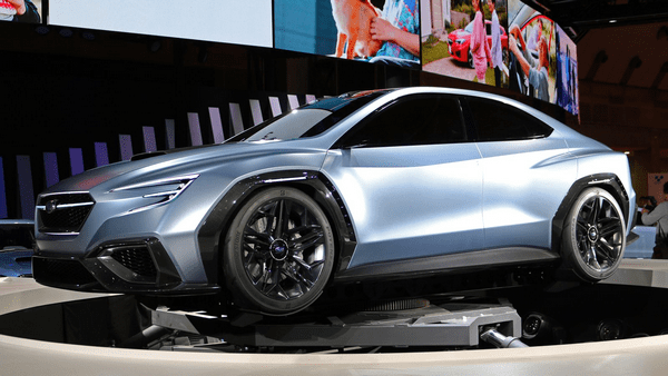 Angular front of the Subaru Viziv concept