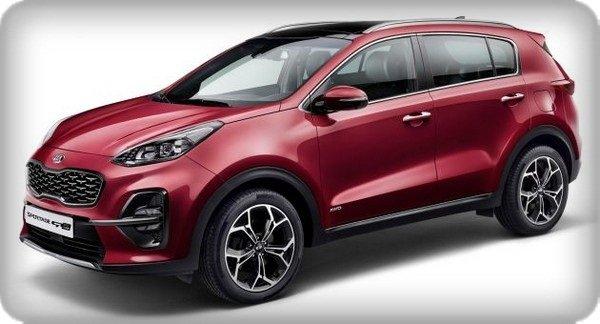Kia Sportage 2018 facelift angular front