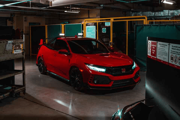 Angular front of the Honda Civic Type R Project P