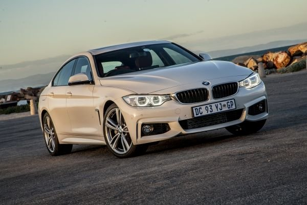 BMW 4 series on the road