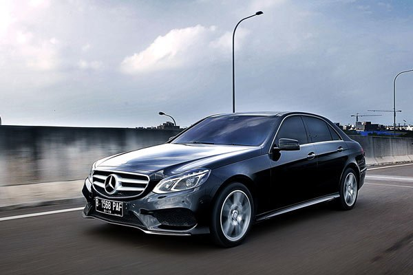 Mercedes E-Class on the road