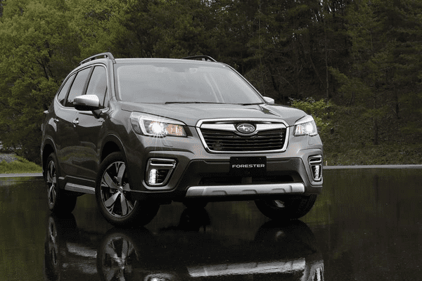 Agular front of the Subaru Forester 2019