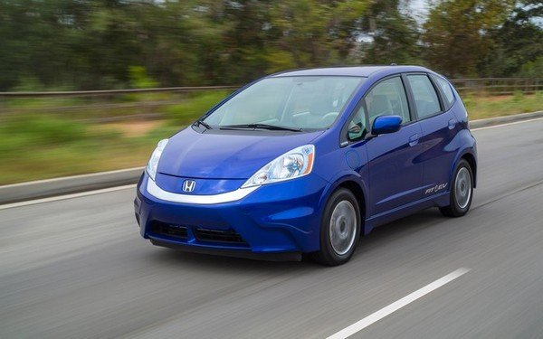 Honda Fit EV on the road