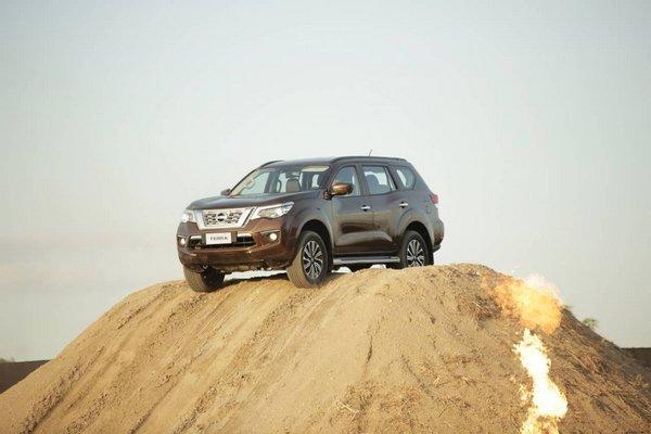 Nissan Terra 2018 on a sand dune