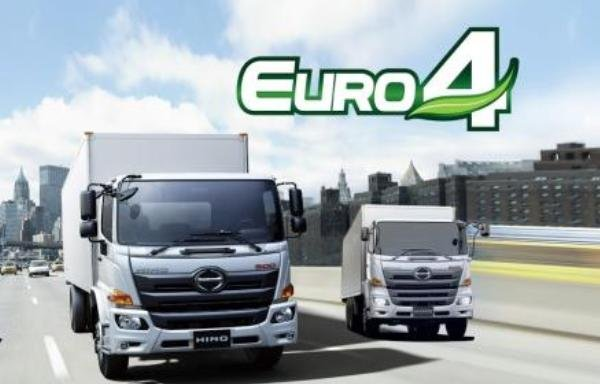 Euro-4-standards Hino heavy-duty trucks