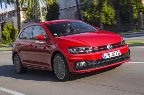 Volkswagen Polo GTI 2018 on the road
