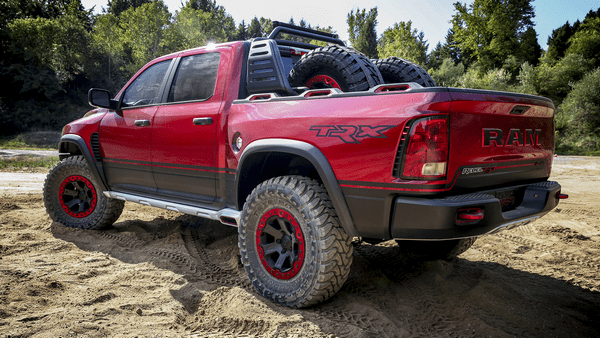 angular rear of the Ram Rebel TRX concept