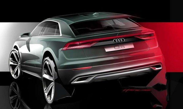 Audi Q8 2018 prototype angular rear