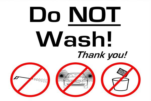 don not wash thank you