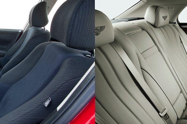 Fabric and leather car seats