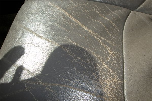 Worn-out Leather seat