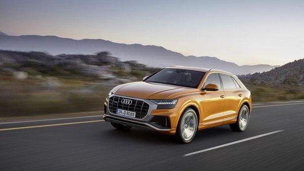 Audi Q8 2019 on the road