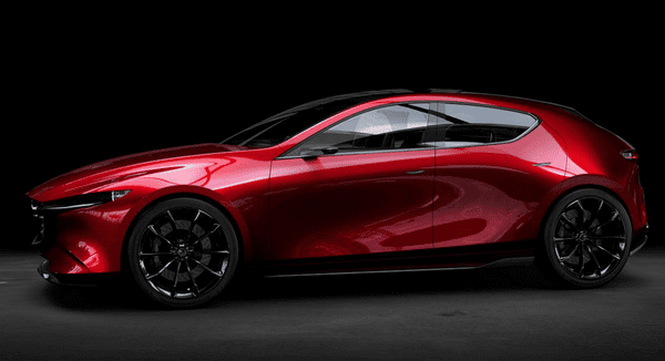 side of the 2019 mazda 3