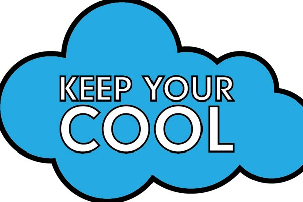 'Dont lose your cool' cloud