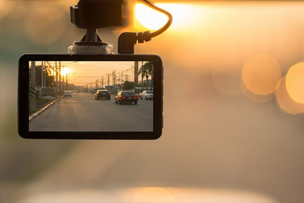 LCD-type dash cam single unit