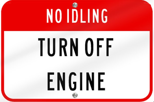 Turn off engine sign