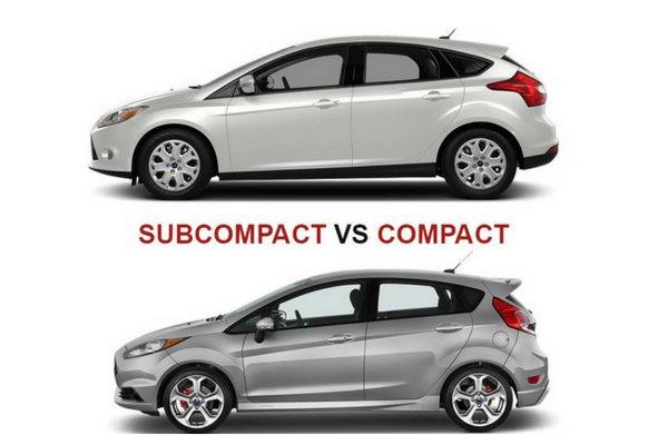 subcompact vs compact cars