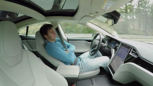 Sleeping inside a car