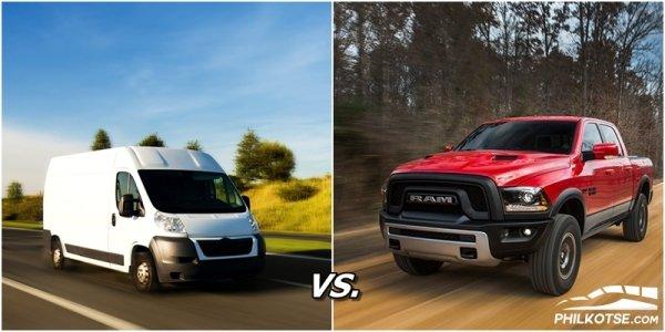 minivan vs pickup truck