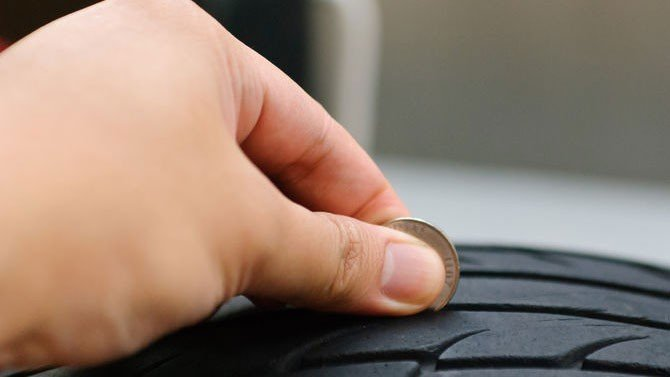 tire tread depth checking with coin