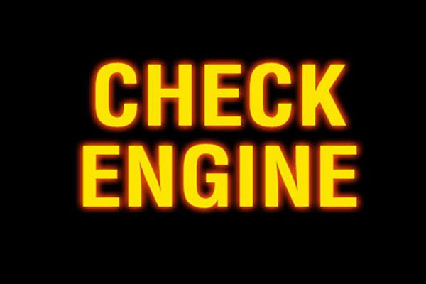 Check Engine lights on