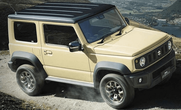 angular front of the The Suzuki Jimny Sierra 2018