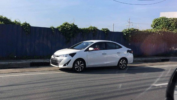 Toyota Vios 2018 spied on the road