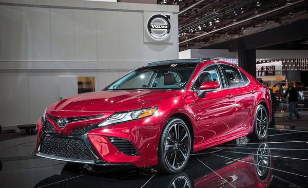 angular front of the Toyota Camry 2018