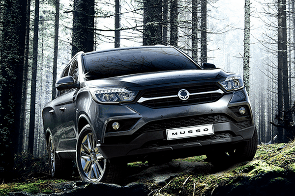 Angular front of the SsangYong 2018