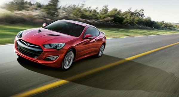 Hyundai Genesis Coupe 2.0L Turbo MT on the road