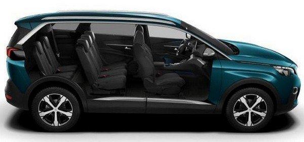 Peugeot 5008 2018 seat arrangement